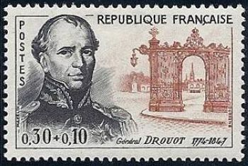Général Drouot et les grilles de Lamour place Stanislias à Nancy
