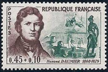 Honoré Daumier et ses oeuvres : laveuse, le drame, Ratapoil