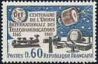 timbre N° 1451, Centenaire de l'union internationale des télécommunications