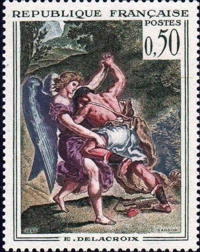 Eugène Delacroix «Lutte de Jacob avec l'Ange»