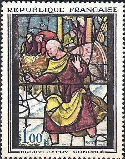 Vitrail de l'église Sainte-Foy à Conches