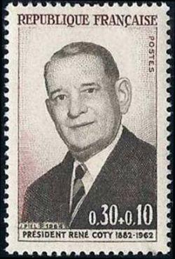 René Coty (1882-1962)  président de la République française de 1954 à 1959