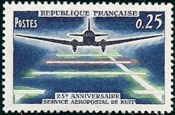25ème anniversaire du service aéropostal de nuit