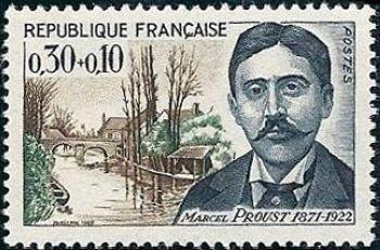 Marcel Proust écrivain (1871-1922) et pont St Hilaire à Illiers (Eure et Loire)