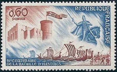 IXème centenaire de la Bataille de Hastings - Le chateau de Falaise et la statue de Guillaume le Conquérant