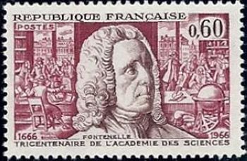 Bernard le Bovier de Fontenelle (1657-1757) écrivain. Secrétaire perpétuel de l'Académie des sciences (1699-1740)