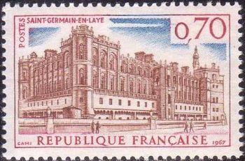 chateau de st germain en laye timbres de france mis en 1966. Black Bedroom Furniture Sets. Home Design Ideas