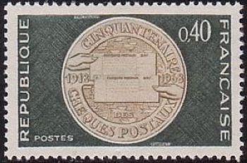 Cinquantenaire des comptes courants postaux (chèques postaux)