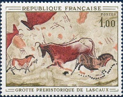 Peinture rupesres de la grotte de Lascaux à Montignac (Dordogne)