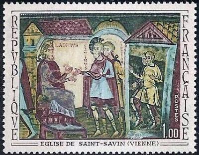 Fresque de l'abbaye de Saint-Savin (Viennes)