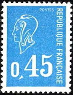 marianne de b quet timbre fran ais n 1663 de couleur bleu mis en 1971. Black Bedroom Furniture Sets. Home Design Ideas