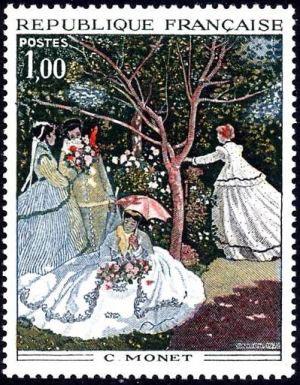 Femme au jardin de Monet