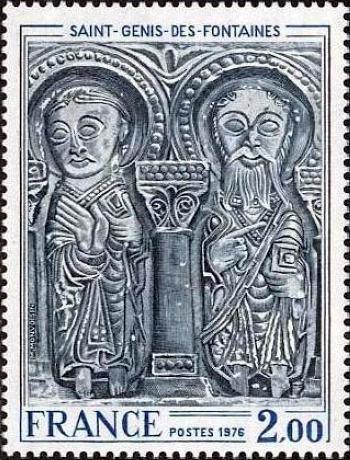 Linteau de l'église de Saint Genis des Fontaines