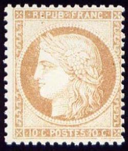 Emission dite du siège de Paris type de 1849