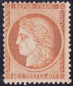 Cérès 1849 dentelé - Emission dite du siège de Paris type de 1849