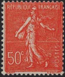 semeuse timbre fran ais n 199 de couleur rouge mis en 1924 1926. Black Bedroom Furniture Sets. Home Design Ideas