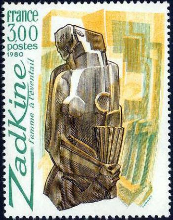 Femme à l'éventail de Zadkine (1890-1967)