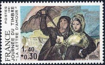 Goya «La lettre d'amour» Journée du timbre