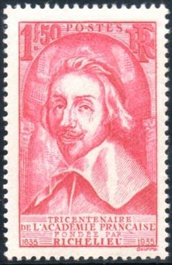 Cardinal de Richelieu (1585-1642) fondateur de l'Académie Française.