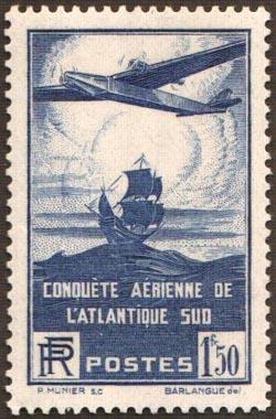 100ème traversée aérienne de l'Atlantique-sud par les avions postaux français