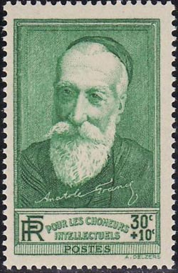 Anatole France (1844-1924) écrivain français