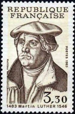 Martin Luther (1483-1546)  théologien et réformateur, 500ème anniversaire de sa naissance
