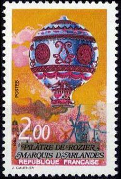 Bicentenaire de l'air et de l'espace - Pilâtre de Rozier et Marquis d'Arlandes