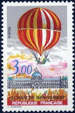 Bicentenaire de l'air et de l'espace - J. Charles et M.N. Robert - 2ème ascension de l'homme dans l'atmosphère