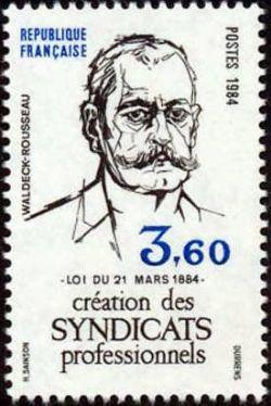 Pierre Waldeck-Rousseau - Centenaire de la création des syndicats professionnels par la loi du 21 mars 1884