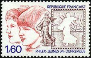 Philex-Jeunes 84 exposition philatélique de la jeunesse à Dunkerque