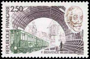 Hommage à Fulgence Marie Auguste Bienvenüe,  (1852-1936) créateur du métropolitain de Paris