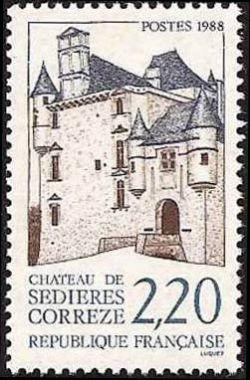 chateau de s di res timbres de france mis en 1988. Black Bedroom Furniture Sets. Home Design Ideas