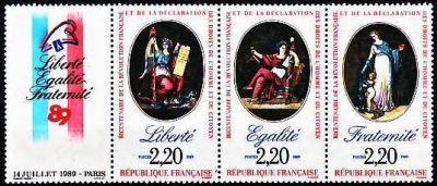 Bicentenaire de la révolution - Liberté - Egalité - Fraternité