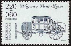 Journée du timbre - Diligence Paris-Lyon