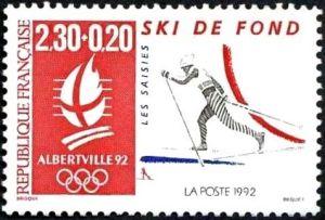 «Alberville 92» Jeux olympiques d'hiver 1992 à Alberville - Ski de fond - Les Saisies