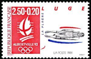 «Alberville 92» Jeux olympiques d'hiver 1992 à Alberville - Luge - La Plagne