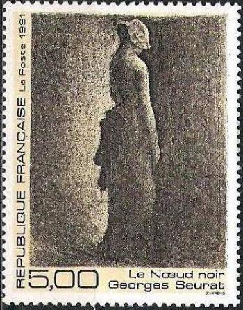 ''Le noeud noir'' de Georges Seurat