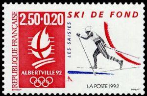 «Alberville 92» Jeux olympiques d'hiver - Ski de fond - Les Saisies