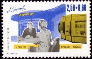 Journée du timbre - Les métiers de la Poste - L'accueil