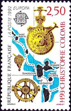 Europa - 1493 découverte de l´Amérique par Christophe Colomb
