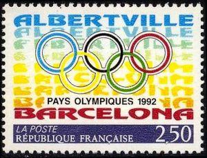 La France et l'Espagne pays olympiques 1992