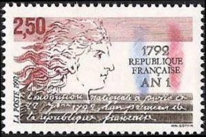 1792 An 1 de la république française