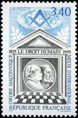 Centenaire du Droit Humain ordre maçonnique mixte intenational
