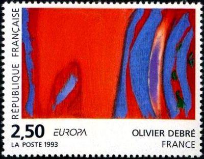 Europa - « Rouge rythme bleu » Olivier Debré