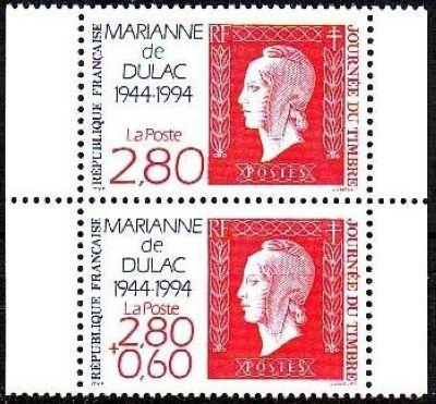 Journée du timbre - 50ème anniversaire de la Marianne de Dulac