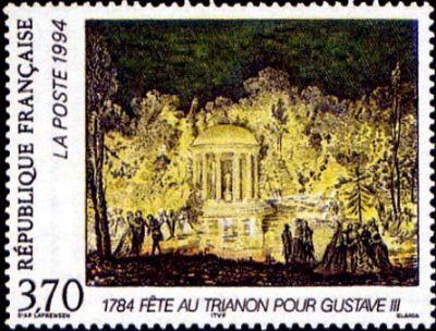 Relations culturelles France-Suède - Fête au Trianon en l´honneur du roi Gustave III