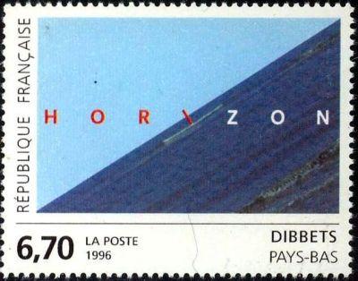 « Horizon » oeuvre originale de Dibbets (Pays-Bas)