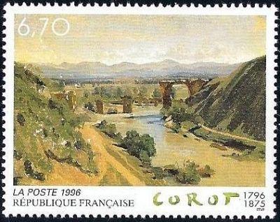 « Le pont de Narni » tableau de Jean-Baptiste Corot (1796-1875) peintre et graveur français