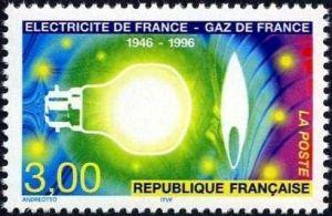 Cinquantenaire de Electricité de France Gaz de France