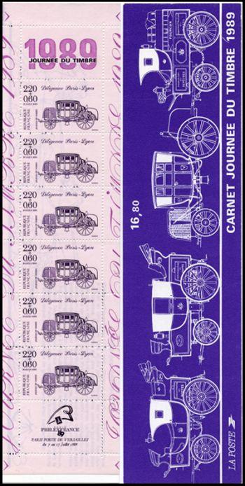 Journée du timbre - Diligence Paris-Lyon - violet sur mauve